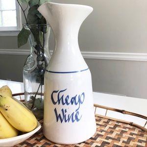 Vintage Cheap Wine Pitcher